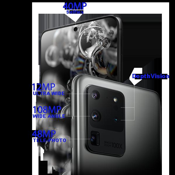 مشخصات دوربین s20 ultra