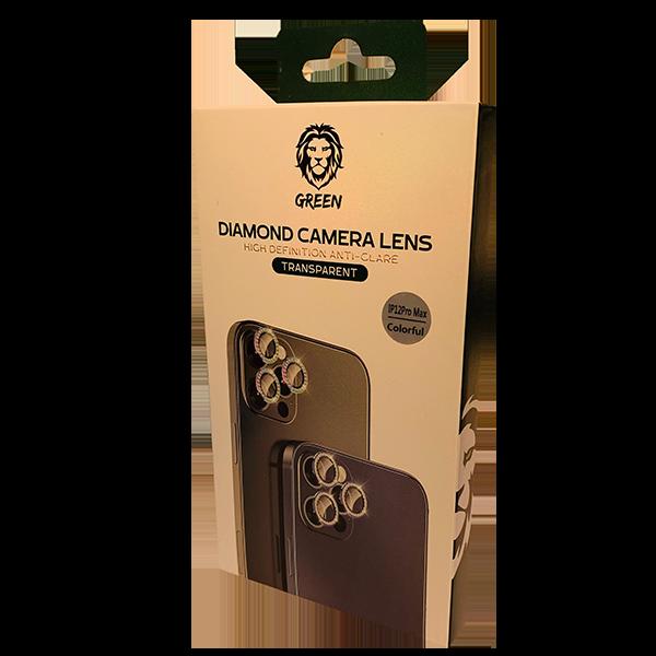 محافظ لنز دوربین تکی دیاموند گرین مناسب آیفون سری 12 هفت رنگ