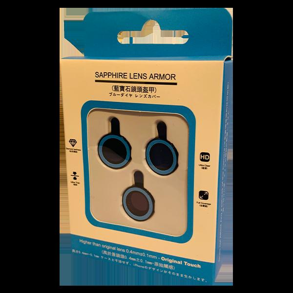 محافظ لنز دوربین یاقوتی شب تاب مناسب گوشی آیفون 12 پرو مکس رنگ آبی