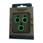 محافظ لنز دوربین یاقوتی شب تاب مناسب گوشی آیفون 12 پرو مکس رنگ سبز